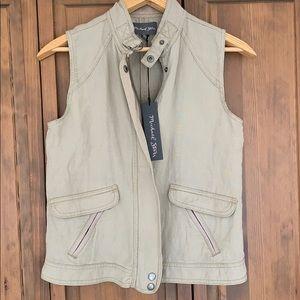 Michael Stars Zip-Up Linen Vest